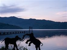 野尻湖の朝。そして斑尾山へ。
