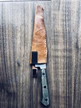 ナイフの皮の入れ物 自作した