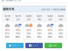 明日からの雨が降る前に