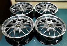 BBS-RS-GT18インチ/バレル2次元研磨ブラッシュド/パウダースモークブラック(黒中間色) フルパウダーコート