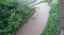 大雨の地元