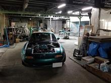 ボンネットとトランクの再塗装