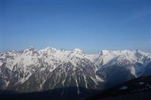 GW登山は残雪期の蝶ヶ岳へ