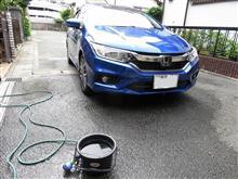 明日からの小旅行に備えて洗車