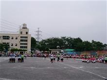 今日は小学校の運動会!