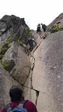 乾徳山で岩登り