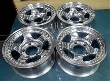 四駆1Ps鋳造(CAST)プラ樹脂製ダミーボルト付き15インチ/バレル2次元研磨パウダーアクリルクリアー