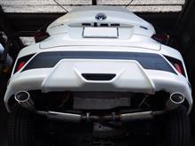 C-HRハイブリッド用マフラー DUALIST EX TRDバンパー車に装着してみました!