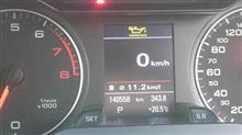 補給ランプ点灯(1720km)ODOメーター140558km・3個目E/G72000km走