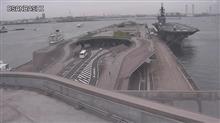 大桟橋にDDH-183「いずも」接岸
