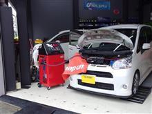 軽自動車の冷房能力も究極管理!ムーヴにスナップオン/エアコンサービスステーション
