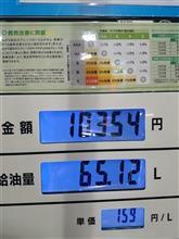 満タン給油で初めて1万円を超えた(T_T)