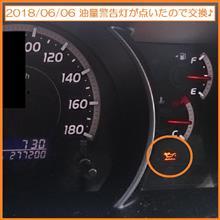 2018/06/06 油量警告灯が点灯したのでオイル交換♪