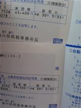普通車2台分自動車税納付(;゚д゚)