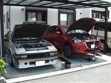 久々に車の整備デー。