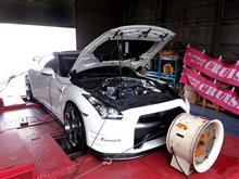 クルーズ R35 GT1000 in シャシダイ!
