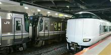 新大阪駅にて(新快速・快速・普通)