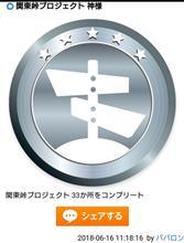 ハイドラ 関東峠プロジェクト 神様バッジゲット