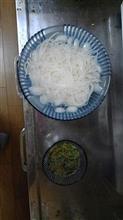 お昼は揖保乃糸。