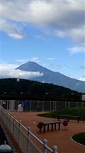6月18日の梅雨の晴れ間の富士山