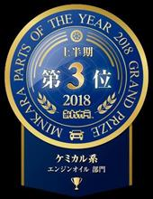TAKUMIモーターオイルが3位を受賞!!みんカラパーツオブザイヤー2018上半期 ケミカル系 エンジンオイル部門☆