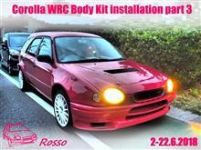 Corolla WRC Body Kit installation part 3