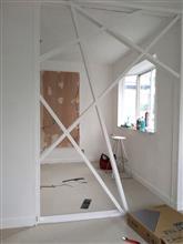 MR-Sの家 リフォーム工事 壁塗装と床張り