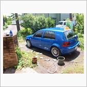 休日晴れ間は~洗車ですね~
