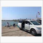 岩船港でアジ釣りに