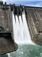 下久保ダム放流設備点検の見学
