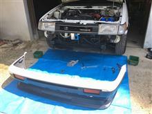 AE86バンパー修理
