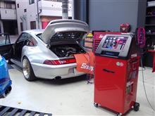 ポルシェ993のエアコンも冷房能力アップを「スナップオン/エアコンサービスステーション」