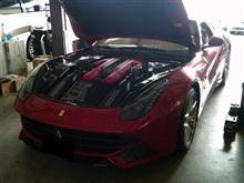 Ferrari F12 エキゾーストバイパスモジュール取付
