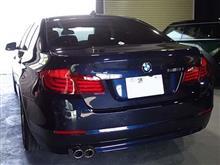 BMW 5シリーズ(F10) フォグライト用LEDバルブ装着&コーナーリングライトLED化&LEDインテリアライトユニット装着とコーディング施工