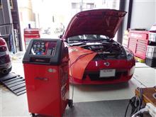 愛車のエアコンガスは規定量が充填されていますか?スナップオン/エアコンサービスステーション施工をフェアレディZに