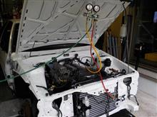 AE86 後期3ドア トレノGT-V セミレストア その14「エアコン機器搭載~つなぎこみ」