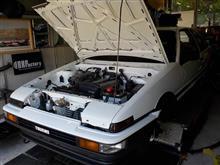 AE86 後期3ドア トレノGT-V セミレストア その15「エンジンルーム、外装、ブレーキ・クラッチフルード」