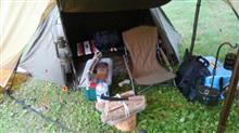 初めての軍幕キャンプ