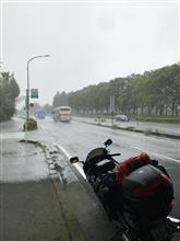 雨に降られながらも(^^;;