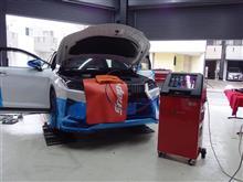 レクサスRXのエアコンもグレードアップ・スナップオン/エアコンサービスステーション施工・DKホーン+ワンタッチハイビーム