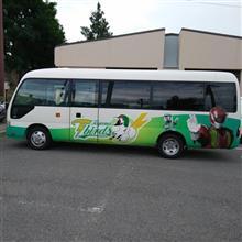 富山サンダーバーズのマイクロバス!