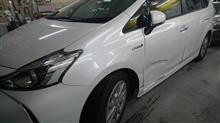 『トヨタ プリウスα 板金・塗装・修理』 東京都青梅市よりご来店のお客様です。