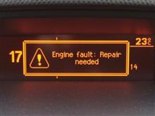 "308Cieloの""Engine fault: Repair needed""エラーが解消♪"