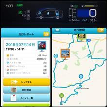 大川原高原へリベンジ♪区間燃費42.3km/Lキタ━(゚∀゚)━!