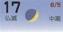 月暦 7月17日(火)
