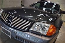 「歴史や思い出と共に輝きを放ち続ける名車」メルセデスベンツ SL500のガラスコーティング【リボルト松本】