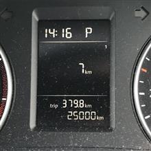 キリ番25,000km