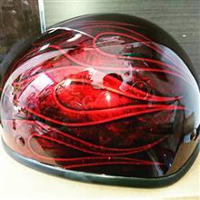 ヘルメット!キャンディーレッド✨