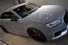 サーキット仕様のハイパフォーマンスモデル アウディ・RS3のガラスコーティング【リボルト湘南】