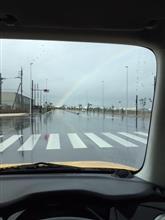 逆さ虹❓🌈